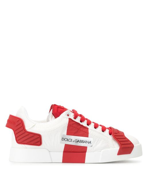 Dolce & Gabbana ロゴ ローカット スニーカー Red