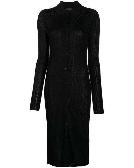 Rag & Bone スリムフィット ドレス Black