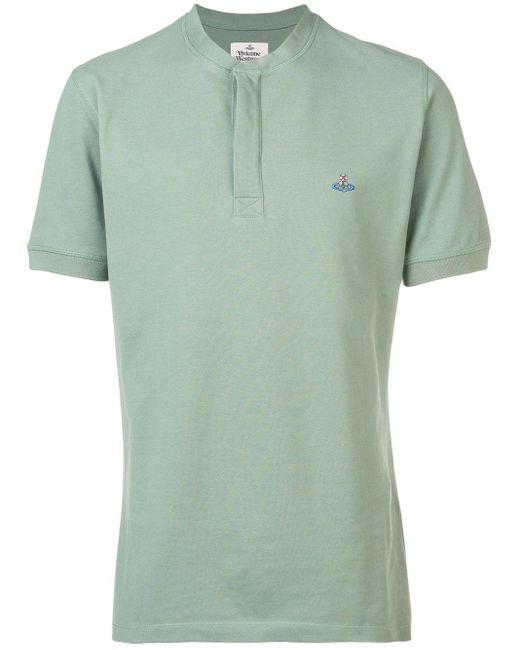 メンズ Vivienne Westwood ロゴ Tシャツ Green