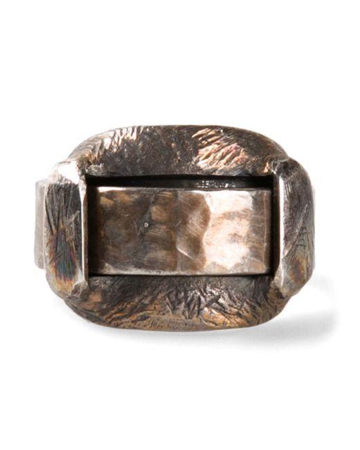 Tobias Wistisen | Metallic Big Loop Ring for Men | Lyst