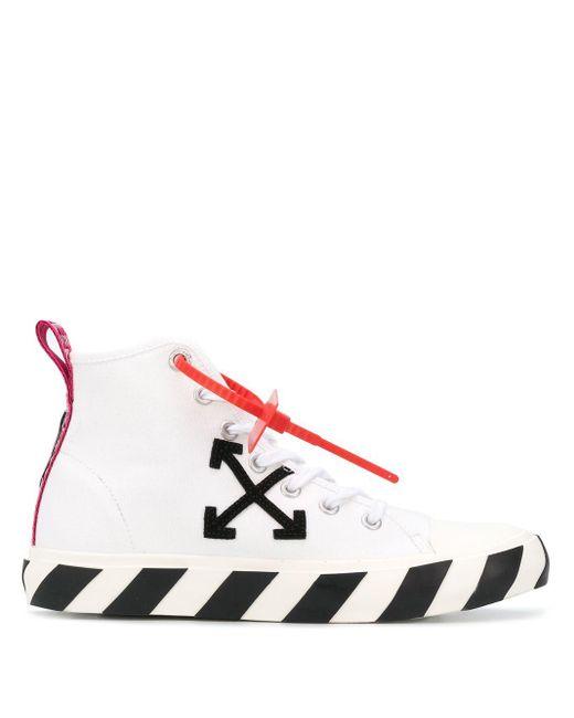Zapatillas altas con parche de flechas Off-White c/o Virgil Abloh de hombre de color White