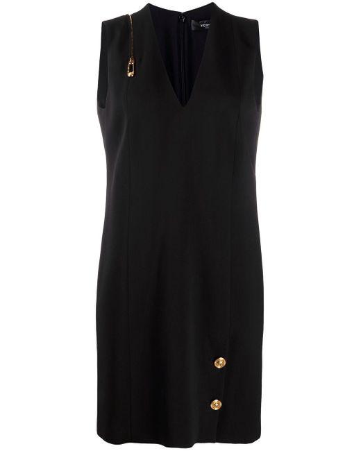 Versace Paper Clip シフトドレス Black