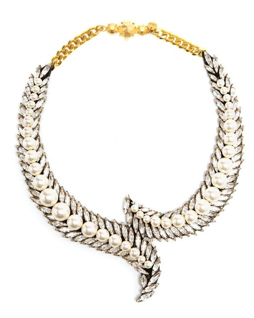Shourouk | Metallic 'piuma' Necklace | Lyst