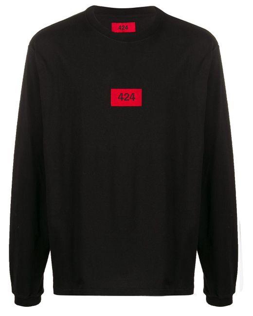 メンズ 424 ロゴ プルオーバー Black