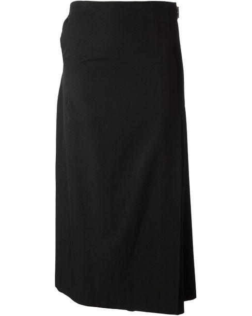 comme des gar ons comme des gar ons vintage 39 robe de chambre 39 kilt skirt in black lyst. Black Bedroom Furniture Sets. Home Design Ideas