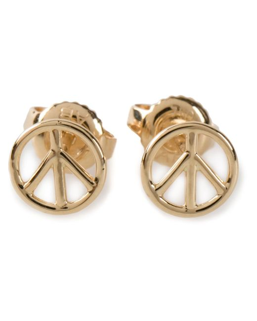 Aurelie Bidermann | Metallic Peace Earrings | Lyst