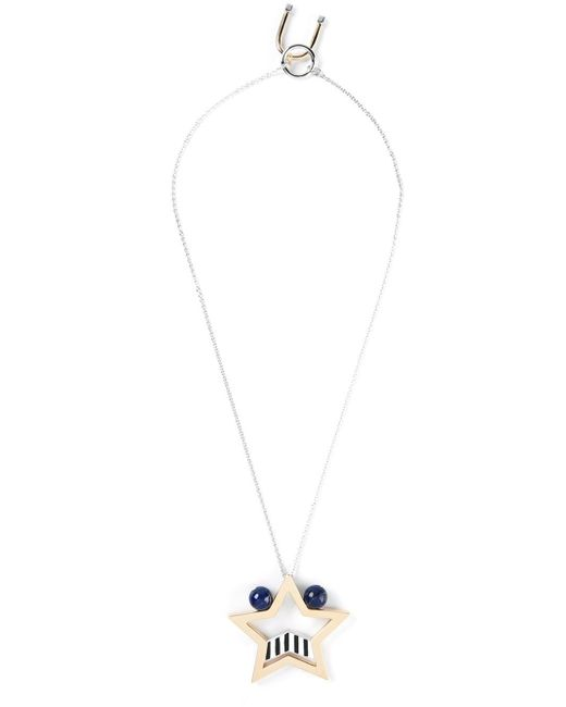 Uribe | Blue 'edie' Star Pendant Necklace | Lyst