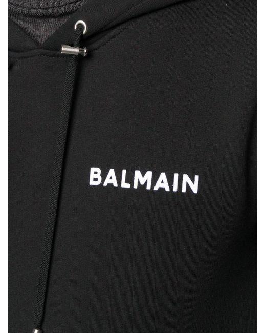 Balmain ロゴ パーカー Black