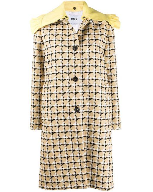 MSGM チェック コート Multicolor