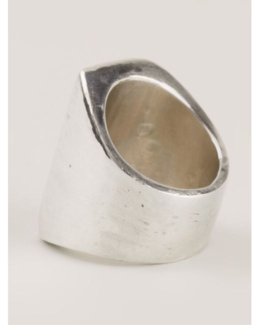 Henson | Metallic Angled Rectangular Ring | Lyst