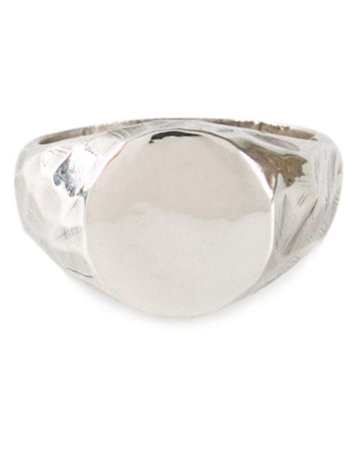 Henson | Metallic Carved Signet Ring | Lyst