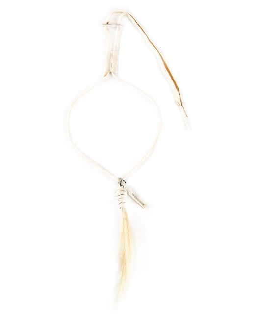 Ann Demeulemeester | Natural Drawstring Necklace for Men | Lyst