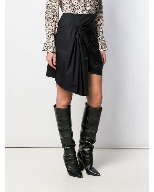 Givenchy ドレープ ミニスカート Black
