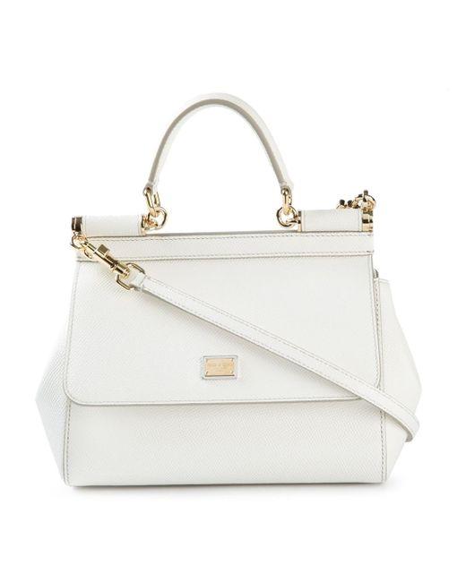 Dolce & Gabbana | White Mini 'sicily' Tote | Lyst