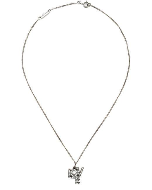 Saint Laurent | Metallic 'love' Necklace | Lyst