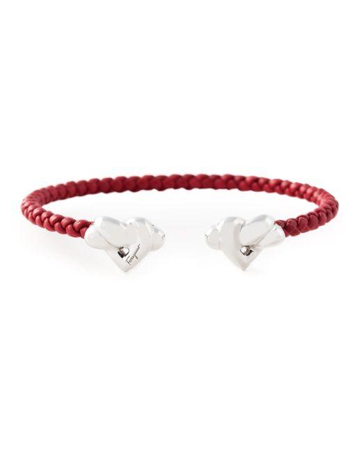 Ferragamo | Red Woven Bracelet | Lyst