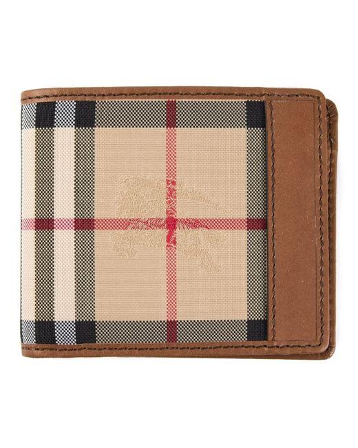 Burberry | Natural Haymarket Check Wallet for Men | Lyst