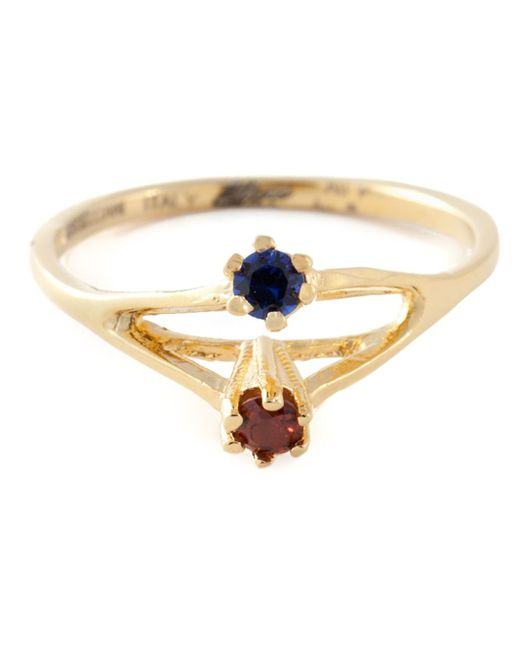 Puro Iosselliani | Metallic Saphire And Garnet Ring | Lyst