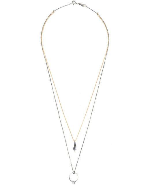 Puro Iosselliani | Metallic Multi Chain Necklace | Lyst
