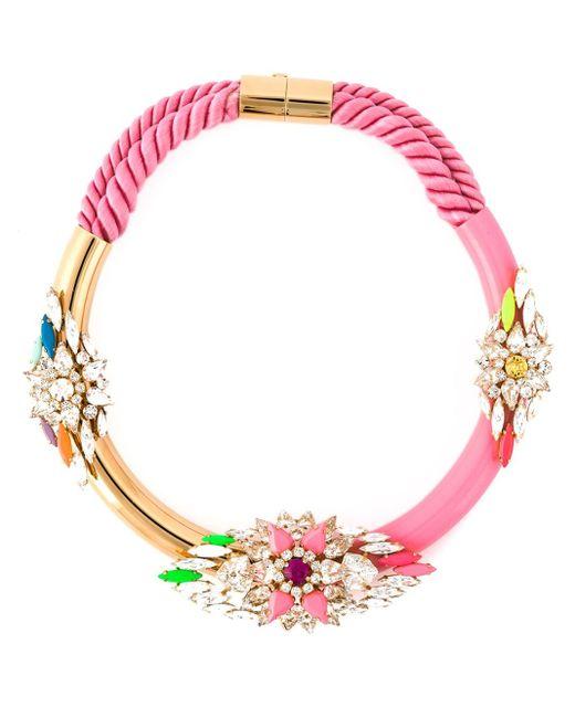 Shourouk | Pink 'zulu' Necklace | Lyst