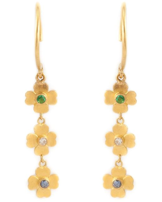 Marie-hélène De Taillac | Metallic Flower Pendant Earrings | Lyst
