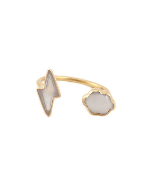 Marie-hélène De Taillac | Metallic Chalcedony Lightning Bolt & Cloud Ring | Lyst