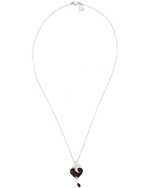 Stephen Webster | Black Sword Ruby Heart Pendant Necklace | Lyst