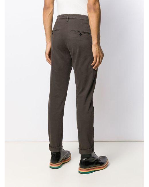 Dondup Pantalon chino classique homme de coloris marron