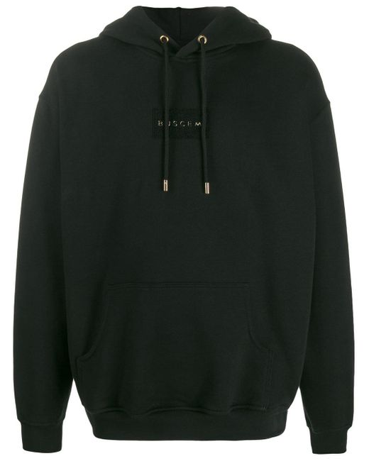 メンズ Buscemi ロゴ ニットパーカー Black