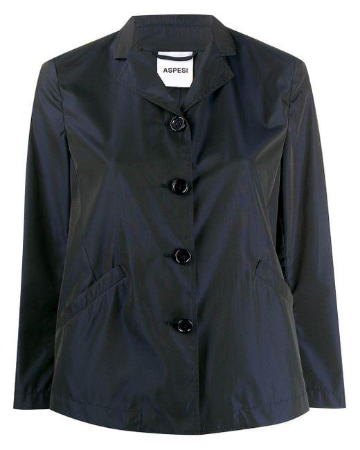 Aspesi オーバーサイズ シャツジャケット Blue
