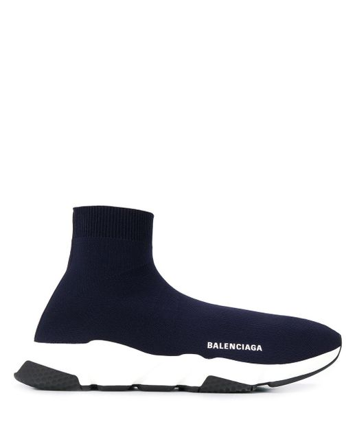 Кроссовки-носки Speed Balenciaga для него, цвет: Blue