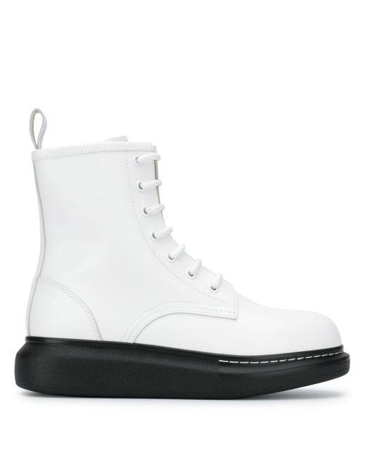 Ботинки Hybrid На Шнуровке Alexander McQueen, цвет: White