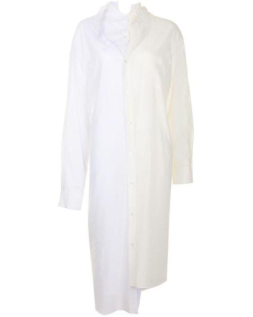 Junya Watanabe バイカラー シャツ White