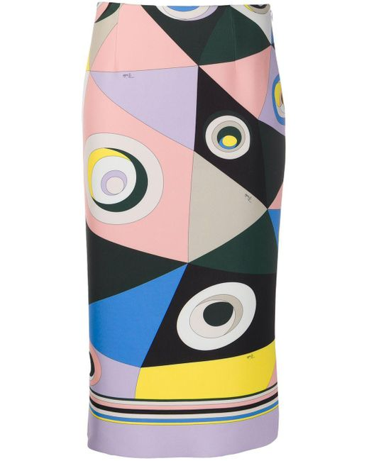 Emilio Pucci プリント ペンシルスカート Multicolor