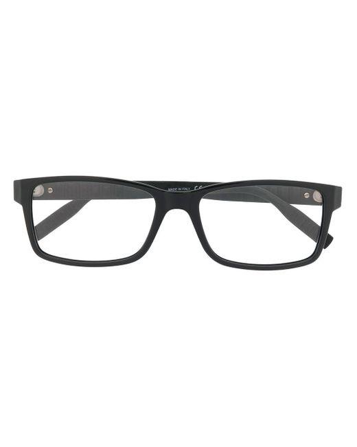 メンズ Montblanc スクエア眼鏡フレーム Black