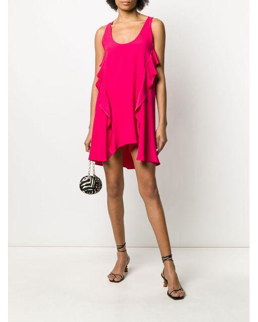 Twin Set ラッフルトリム シフトドレス Pink