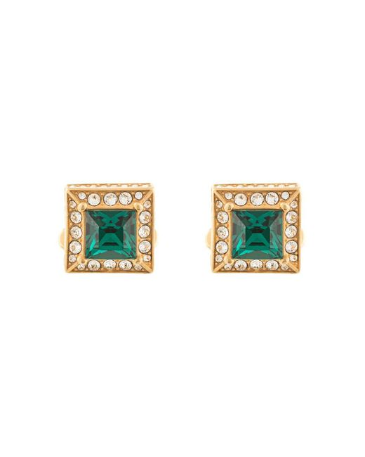 メンズ Dolce & Gabbana ラインストーン カフスボタン Metallic
