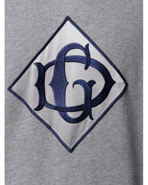Худи С Нашивкой-логотипом Dolce & Gabbana для него, цвет: Gray