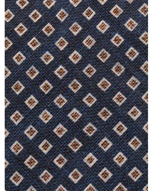 メンズ Dell'Oglio パターン ネクタイ Blue