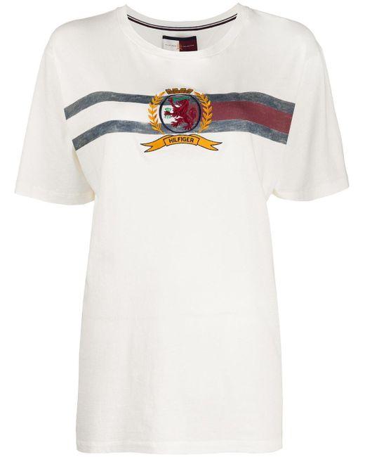 Tommy Hilfiger ロゴエンブロイダリー Tシャツ White