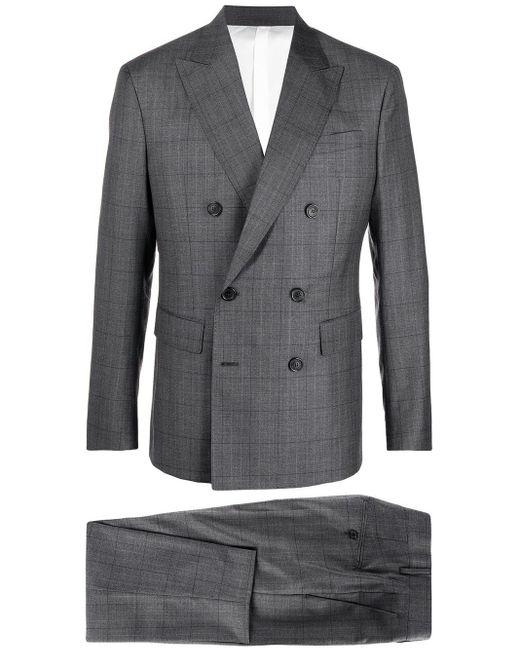Клетчатый Костюм С Двубортным Пиджаком DSquared² для него, цвет: Gray