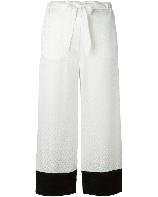 Alexander McQueen | White Jacquard Straight Leg Trousers | Lyst