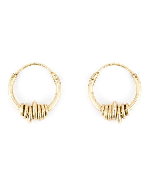 Wouters & Hendrix | Metallic Wrapped Wire Hoop Earrings | Lyst