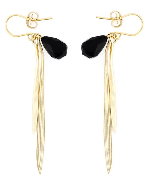 Wouters & Hendrix | Black 'bamboo' Onyx Earrings | Lyst