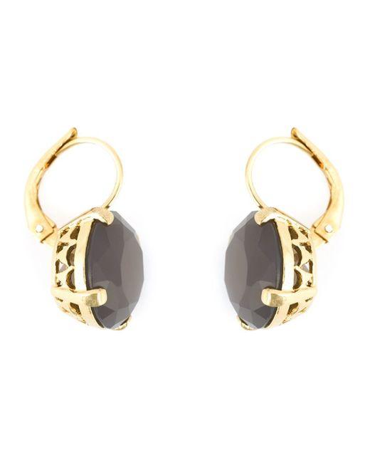 Wouters & Hendrix | Metallic Grey Agate Earrings | Lyst