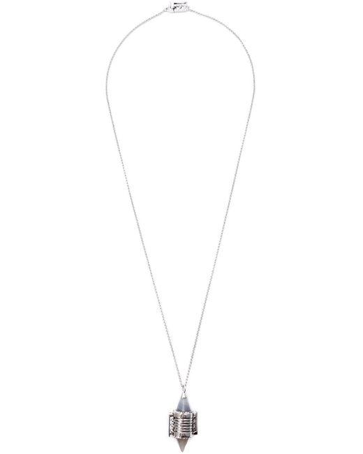 Eddie Borgo | Metallic Inlaid Bi-cone Pendant Necklace | Lyst