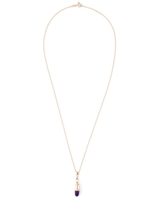 True Rocks | Metallic Small Pill Pendant Necklace | Lyst