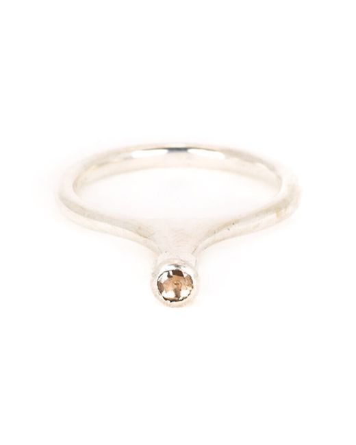 Rosa Maria | Metallic 'jil' Diamond Ring | Lyst