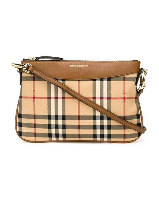 Burberry | Brown - Horseferry Check Crossbody Bag - Women - Leather/nylon - One Size | Lyst