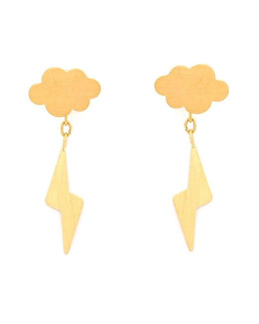 Marie-hélène De Taillac | Metallic 22kt Gold 'thunderstorm' Earrings | Lyst